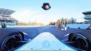 Damien Walters' Formula E car backflip in 360 Degrees