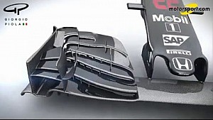 Giorgio Piola - McLaren MP4-31 Nose and front wing changes