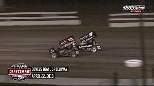 Highlights: World of Outlaws Craftsman Sprint Cars Devils Bowl Speedway April 22nd, 2016