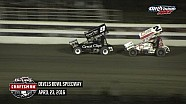 Highlights: World of Outlaws Craftsman Sprint Cars Devils Bowl Speedway April 23rd, 2016