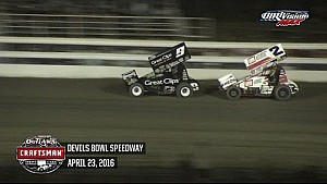 Highlights: World of Outlaws Craftsman Sprint Cars Devils Bowl Speedway April 23rd, 2016