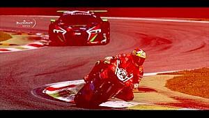 Ducati 1199 Panigale R vs Audi R8 LMS