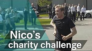 Fun run with Nico Rosberg + Mercedes F1 team