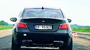 BMW M5 E60 V10 Sound Dinan Stroker HF PS507 Peter Krone Acceleration SCC500 Lahr