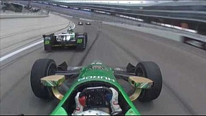 Newgarden & Daly vicious shunt - IndyCar Texas