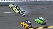 Kyle Busch makes hard contact with the wall
