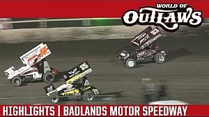 World of Outlaws Craftsman Sprint Cars Badlands Motor Speedway July 3rd, 2016 | HIGHLIGHTS