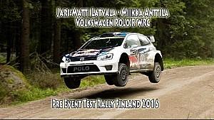 Jari-Matti Latvala - Miikka Anttila, Volkswagen Polo R WRC, Pre Event Test Rally Finland 2016