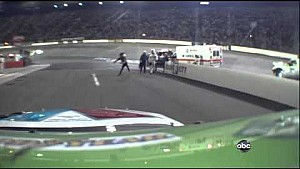 Tony Stewart Throws Helmet At Matt Kenseth - Bristol 2012