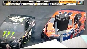 Big crash takes out several contenders at Bristol