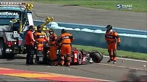 Graham Rahal Hard Crash | IndyCar - Watkins Glen 2016