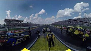 Watch the Funny Car final in 360 degrees!