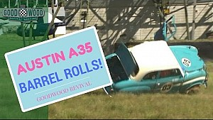 Austin A35 barrel rolls at Revival