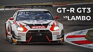 Onboard Cam - GT-R GT3 Overtakes at Silverstone, until... Lamborghini!