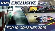 Le top 10 des crashs de la saison 2016 de DTM