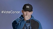 #VoteConor and get him to the Race of Champions
