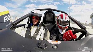 ROC Skills flying lap with Helio Castroneves