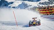 Max Verstappen conduce el coche de F1 en la nieve