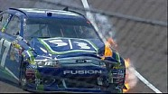 Joey Logano Wrecks Into Matt Kenseth - Indianapolis - 07/29/2012