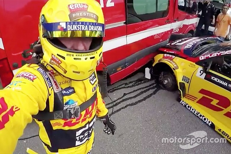 El video del accidente de Tom Coronel de 25 fuerzas G