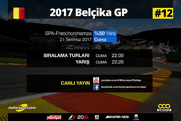 FORMULA 1 LİGİ Son dakika 2017 Belçika GP Sanal Turnuva: Canlı Yayın