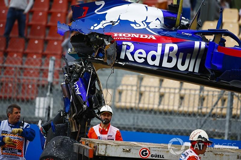 El accidente dejó a Hartley al límite de penalizar