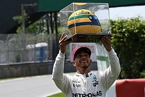 F1 Noticias de última hora Hamilton recibió un casco de su ídolo Senna