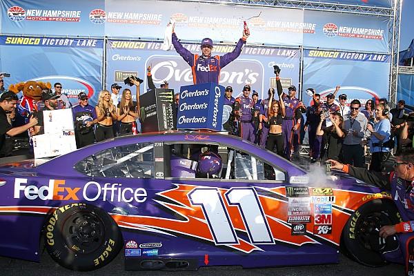 Хэмлин впервые в сезоне выиграл гонку NASCAR
