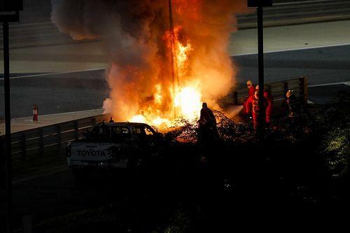 VIDEO: Así salvó su vida Grosjean de las llamas en el GP de Bahréin