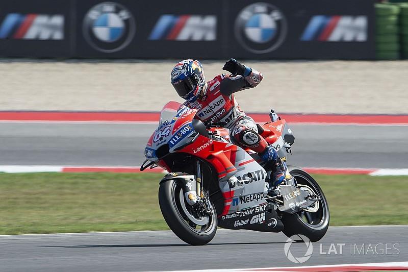 La Ducati fa tris a Misano con Dovizioso, ma Lorenzo butta via la doppietta