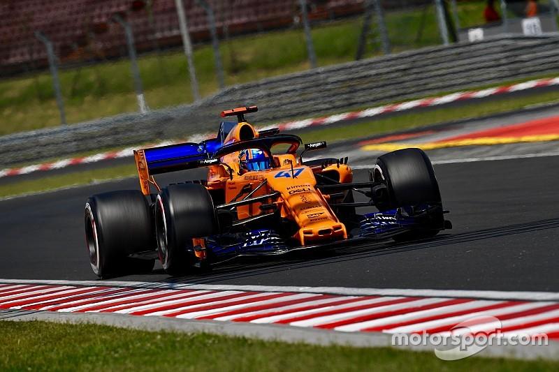 McLaren laat Norris rijden tijdens eerste vrije training in Spa