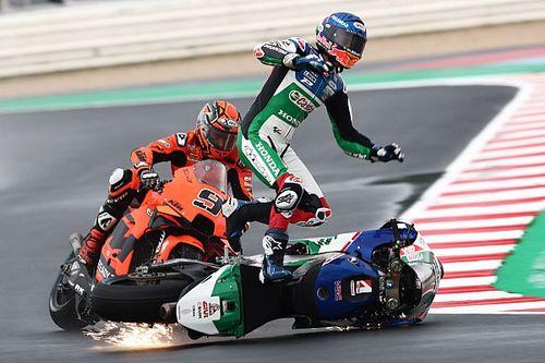 Las fotos de la complicada jornada de MotoGP en Misano