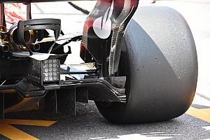 Formula 1 Analisi Ferrari: modificato il doppio Monkey seat alla ricerca del carico