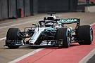 Formule 1 Bottas na shakedown van W09: