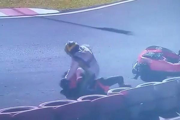 Kart Noticias de última hora Vídeo: una pelea sobre el asfalto pone fin a las 500 millas de karting en Brasil