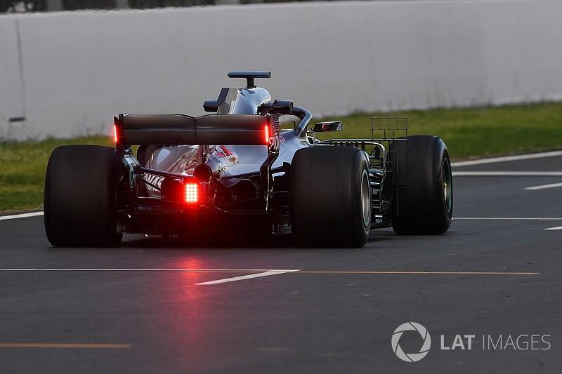 Mercedes testing rear wing rain lights for FIA