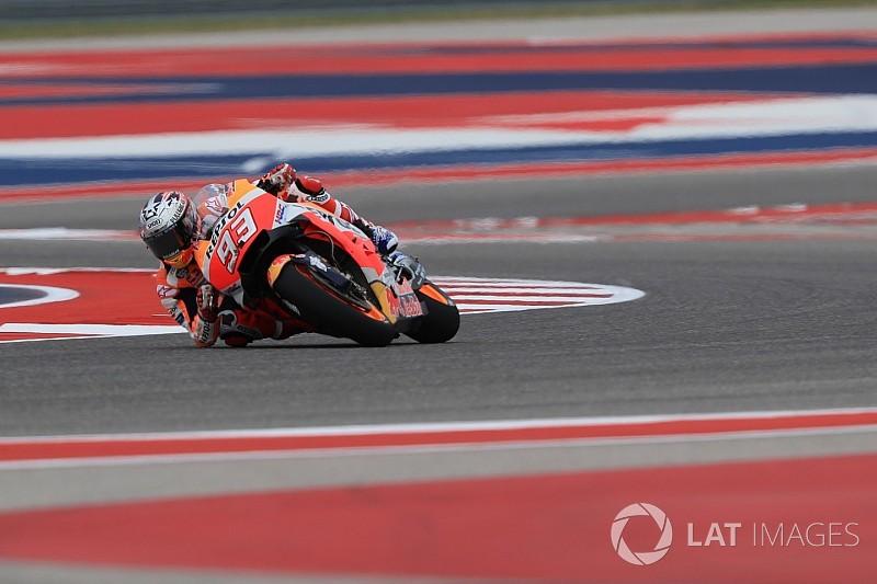 Márquez y Rossi arrancaron adelante en Austin