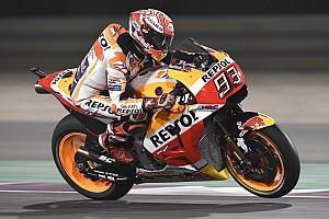 MotoGP Reaktion Marc Marquez sieht Andrea Dovizioso vorne: