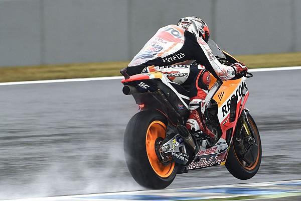 MotoGP Australian MotoGP: Marquez dominates wet FP3 despite crash
