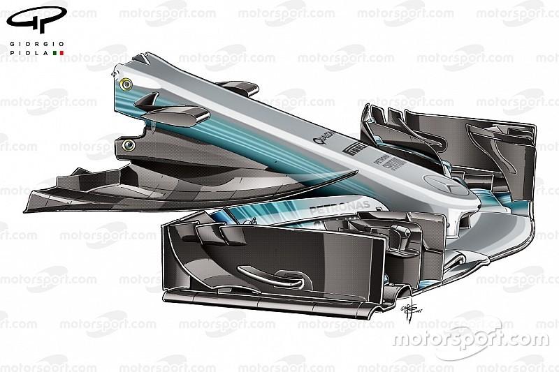 Tech: De evolutie van de Mercedes W08 in 2017