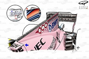 Formula 1 Top List Tech gallery: How the Force India VJM10 evolved throughout 2017
