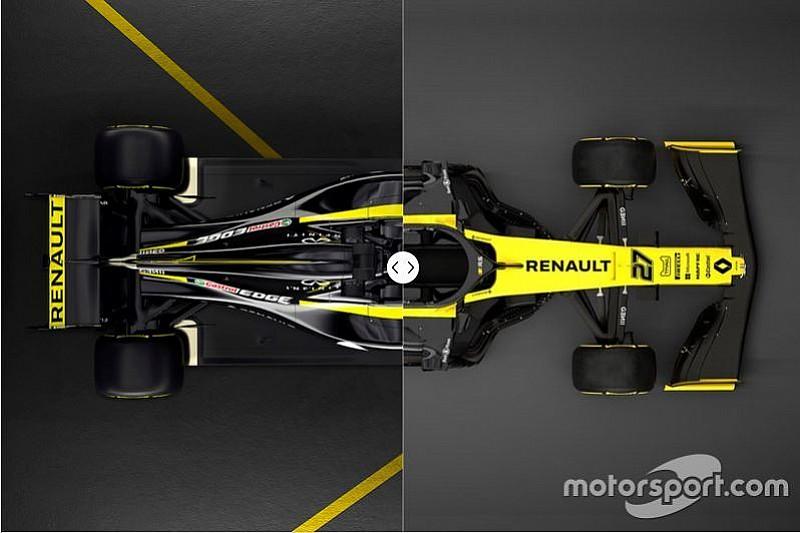 In beeld: Vergelijk de Renault-bolides van 2018 en 2019