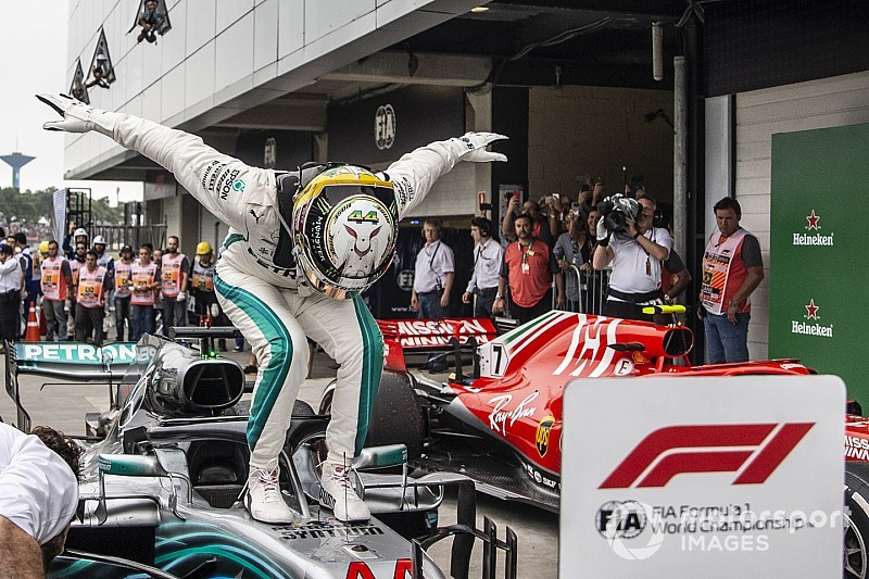 Las mejores fotos del GP de Brasil que coronó a Mercedes