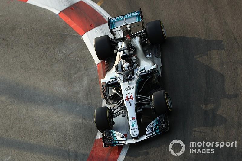 Hamilton ya busca mejoras para el Mercedes de 2019