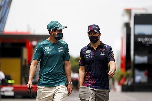 La explicación del Feliz Navidad de Vettel a Sergio Pérez en Bakú