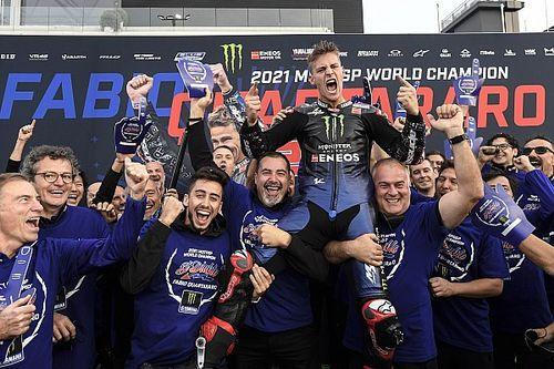 Yamaha disfruta más el título de Quartararo que el de Lorenzo en 2015