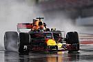 Mobil-mobil F1 2017 beraksi di trek basah Barcelona
