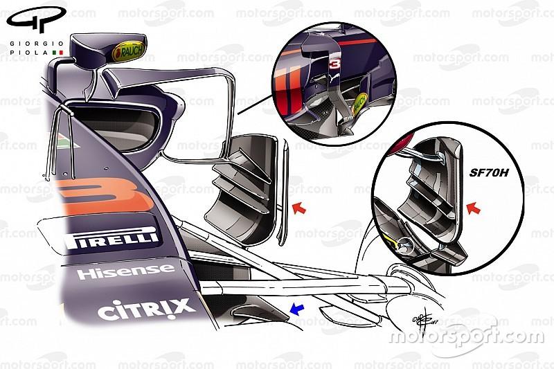 Formel-1-Technik: Updates am Red Bull RB13 in Singapur
