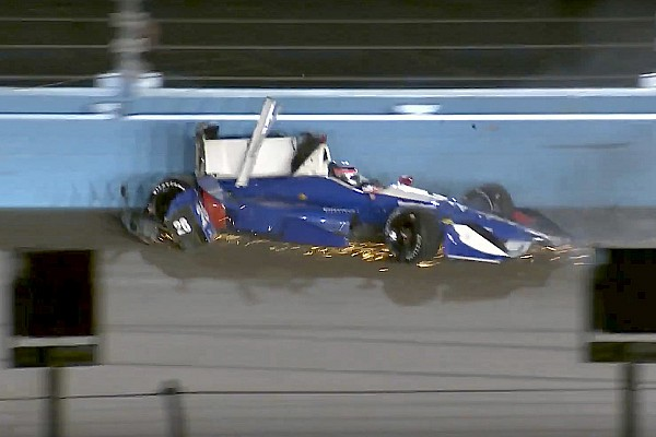 IndyCar Sato pounds the Phoenix wall, escapes unhurt