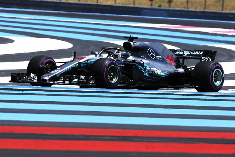 Fransa GP 1. antrenman: Mercedes ve Hamilton hızlı başladı